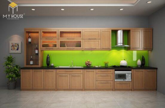 Tủ bếp gỗ sồi nga hiện đại 25