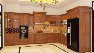 Tủ bếp gỗ tự nhiên loại nào tốt 3