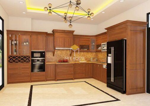 Tủ bếp gỗ tự nhiên loại nào tốt 4