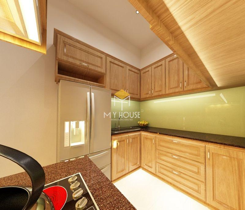 Tủ bếp gỗ tự nhiên loại nào tốt - Mẫu tủ bếp 18