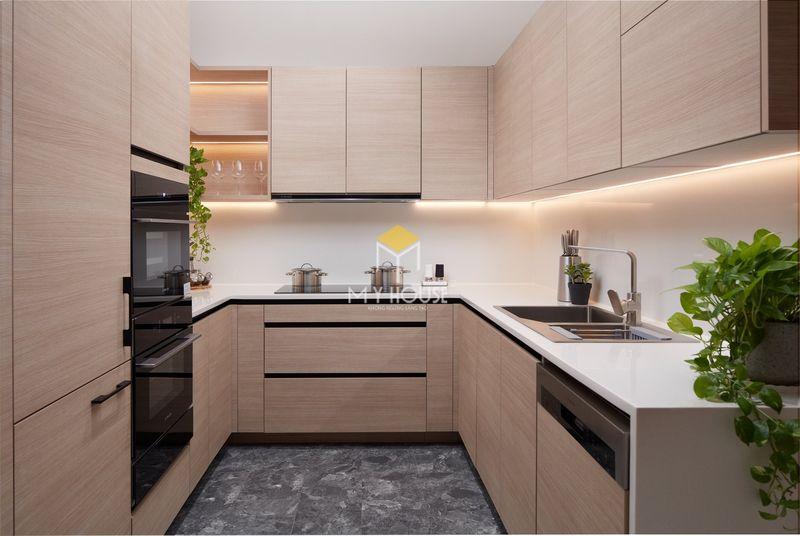 Tủ bếp melamine đẹp - Mẫu 13