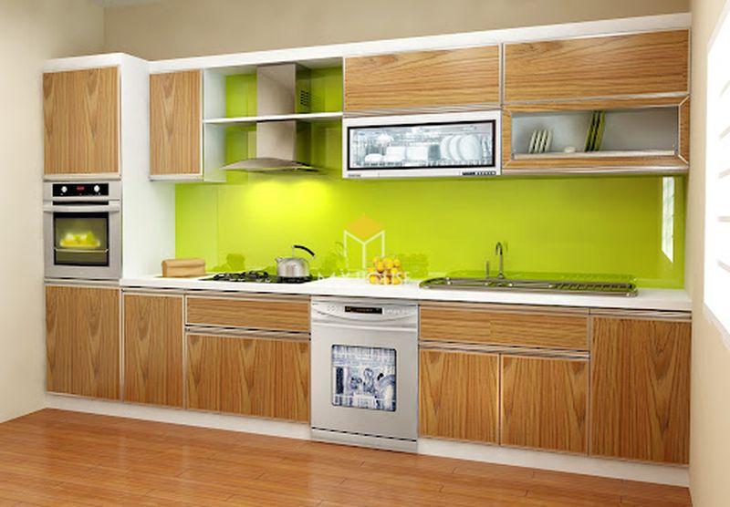 Tủ bếp melamine đẹp - Mẫu 15