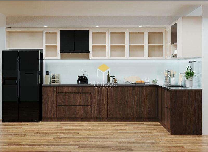 Tủ bếp melamine đẹp - Mẫu 17