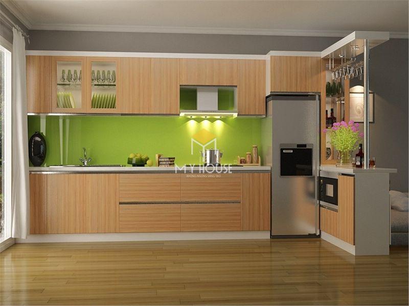 Tủ bếp melamine đẹp - Mẫu 18
