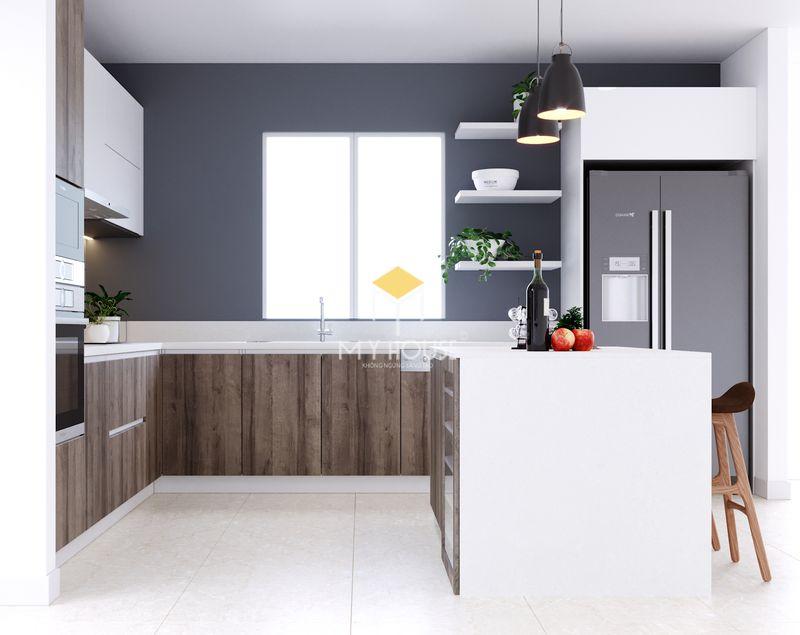 Tủ bếp melamine đẹp - Mẫu 23