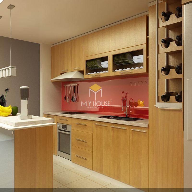Tủ bếp melamine đẹp - Mẫu 26