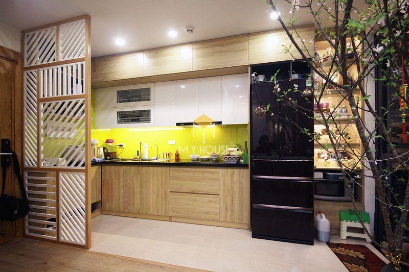 Tủ bếp melamine đẹp - Mẫu 09