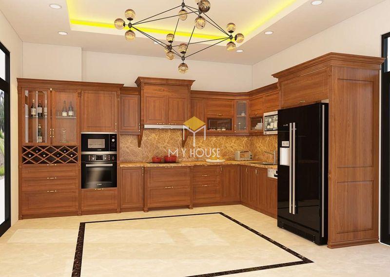 Tủ bếp gỗ tự nhiên - Mẫu 20