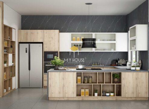 Tủ bếp nên dùng gỗ công nghiệp hay gỗ tự nhiên 11