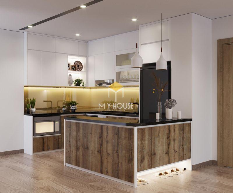 Tủ bếp gỗ công nghiệp - Mẫu 14