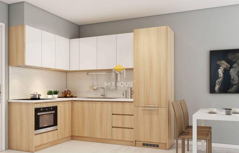 Tủ bếp gỗ công nghiệp - Mẫu 09