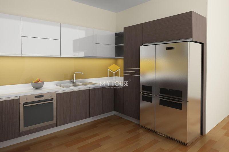 Tủ bếp gỗ công nghiệp - Mẫu 11