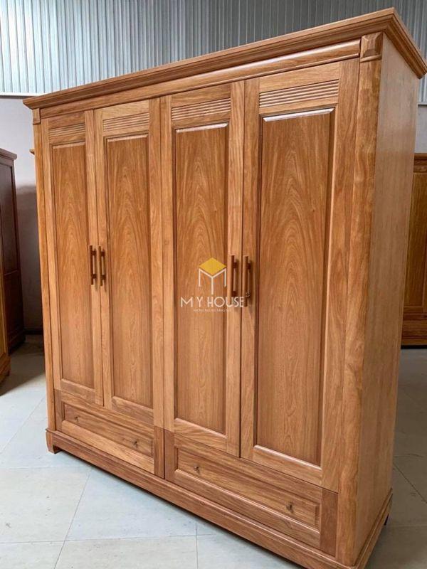 Tủ quần áo gỗ gõ đỏ hiện đại - Mẫu 09