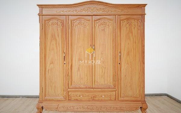 Tủ quần áo gỗ gõ đỏ hiện đại - Mẫu 11