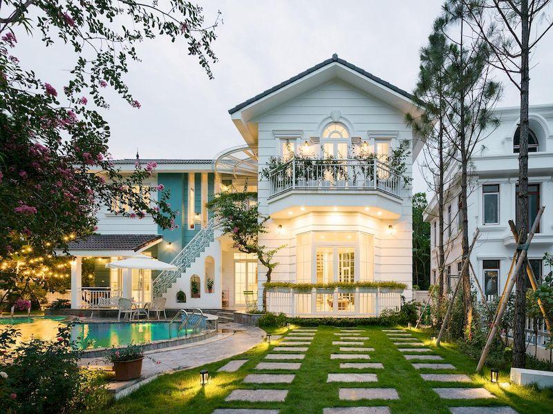 Mẫu biệt thự nhà vườn có bể bơi - Mẫu 01