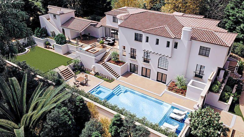 Mẫu biệt thự nhà vườn có bể bơi - Mẫu 14