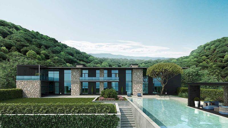 Mẫu biệt thự nhà vườn có bể bơi - Mẫu 19