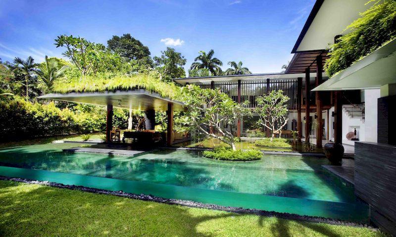 Mẫu biệt thự nhà vườn có bể bơi - Mẫu 22