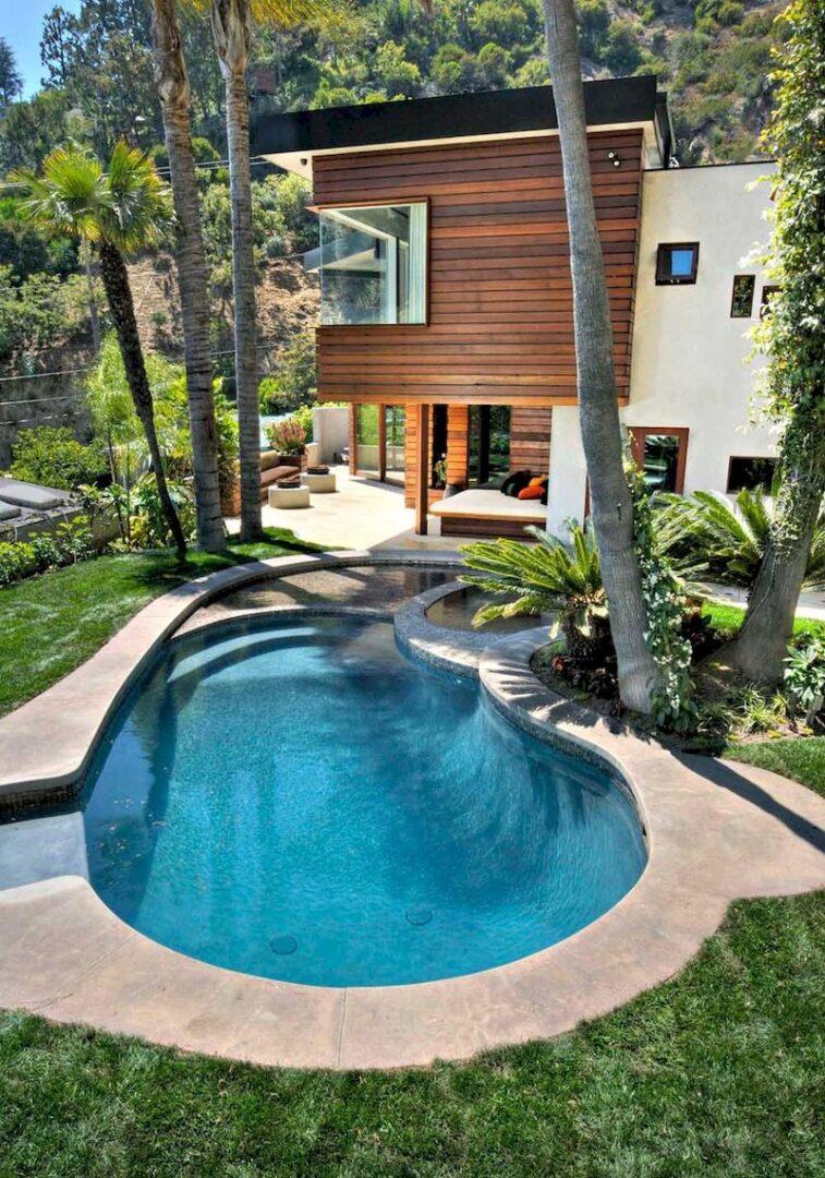 Mẫu biệt thự nhà vườn có bể bơi - Mẫu 07