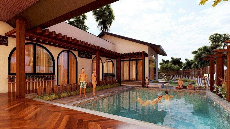 Mẫu biệt thự nhà vườn có bể bơi - Mẫu 10