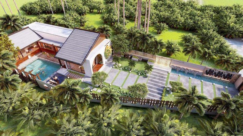 Mẫu biệt thự nhà vườn có bể bơi - Mẫu 21