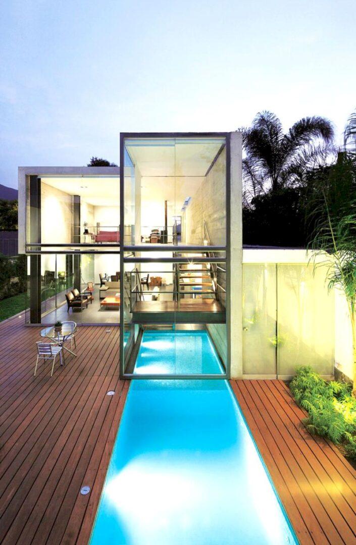 Mẫu biệt thự nhà vườn có bể bơi - Mẫu 11