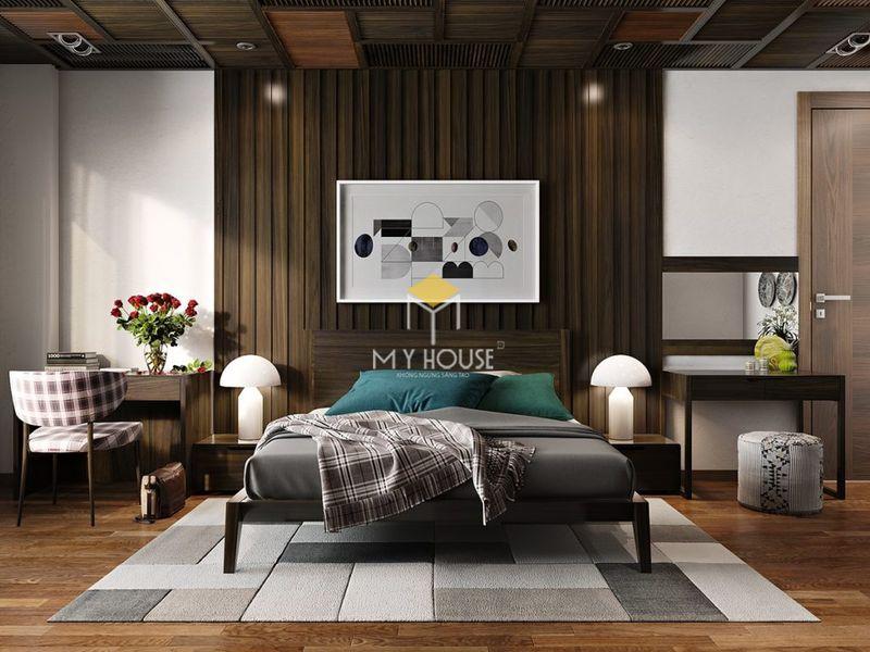 Phòng ngủ đẹp cho nữ màu đen - Mẫu 09