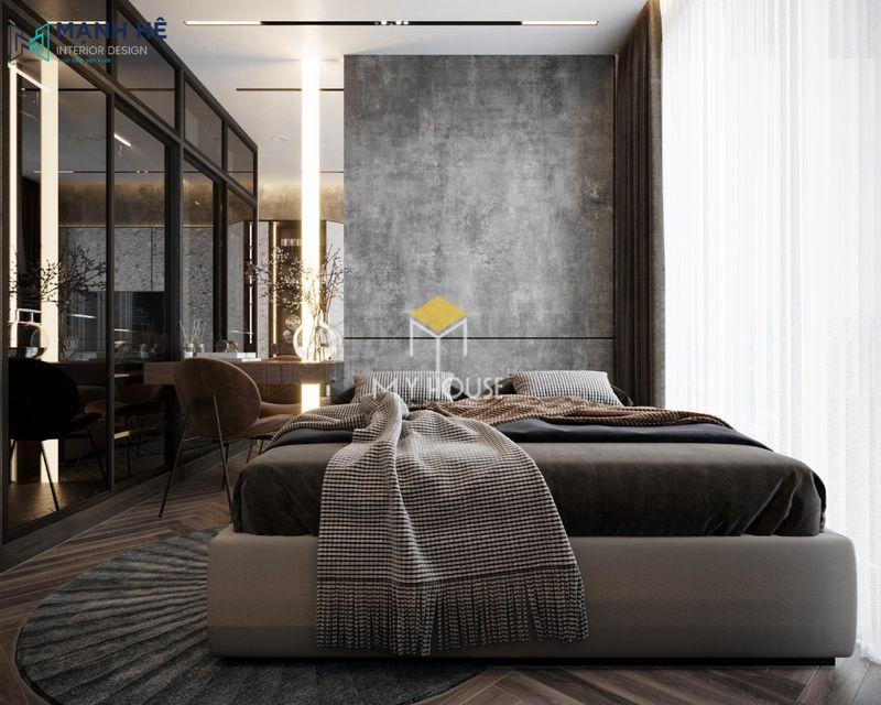 Phòng ngủ đẹp cho nữ màu đen - Mẫu 18