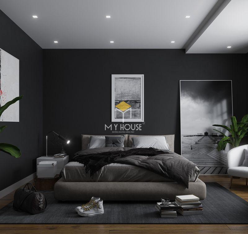 Phòng ngủ đẹp cho nữ màu đen - Mẫu 10