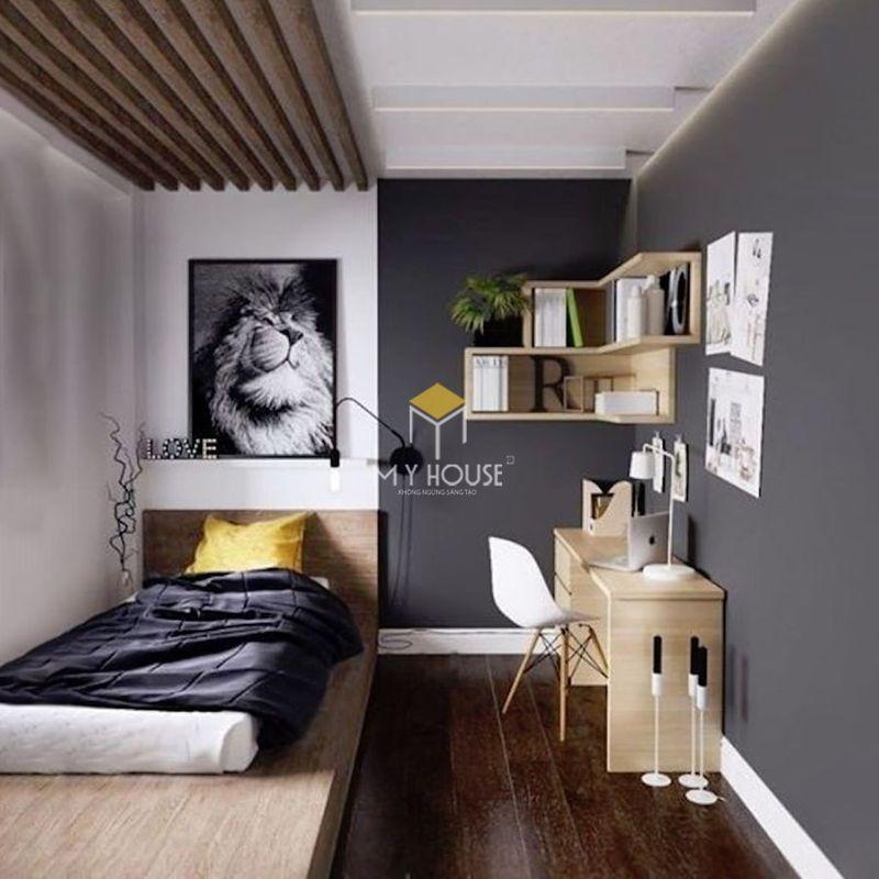 Phòng ngủ đẹp cho nữ màu đen - Mẫu 11