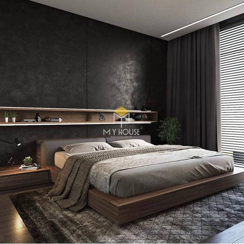 Phòng ngủ đẹp cho nữ màu đen - Mẫu 12