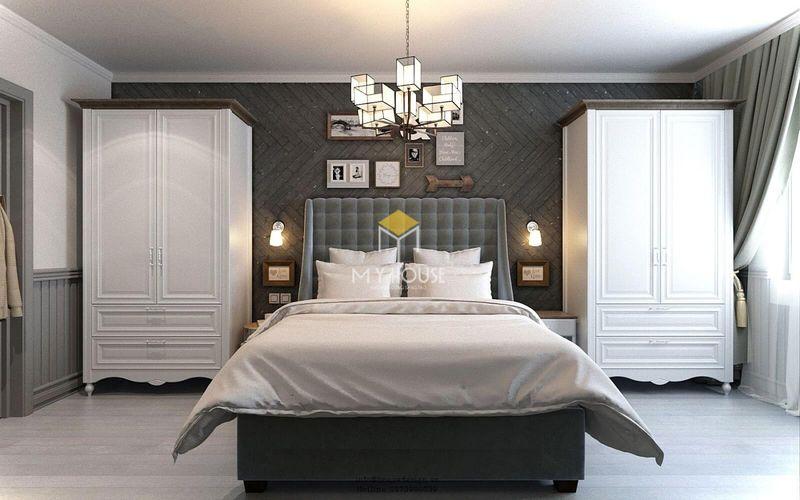 Phòng ngủ đẹp cho nữ màu đen - Mẫu 19