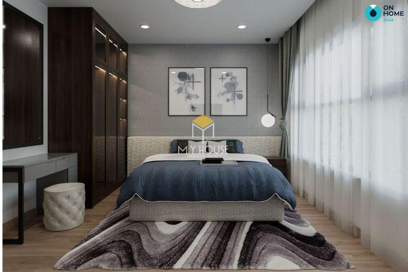 Phòng ngủ đẹp cho nữ màu đen - Mẫu 04