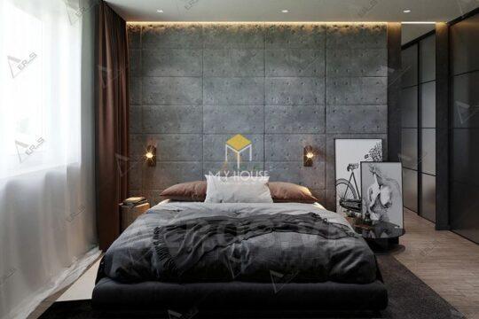 Phòng ngủ đẹp cho nữ màu đen 16