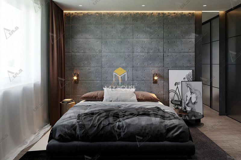 Phòng ngủ đẹp cho nữ màu đen 3