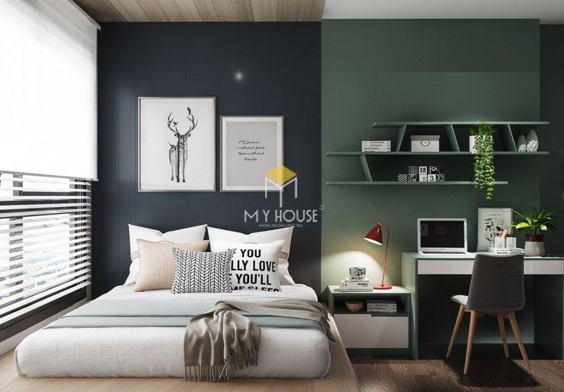 Phòng ngủ đẹp cho nữ màu đen - Mẫu 07
