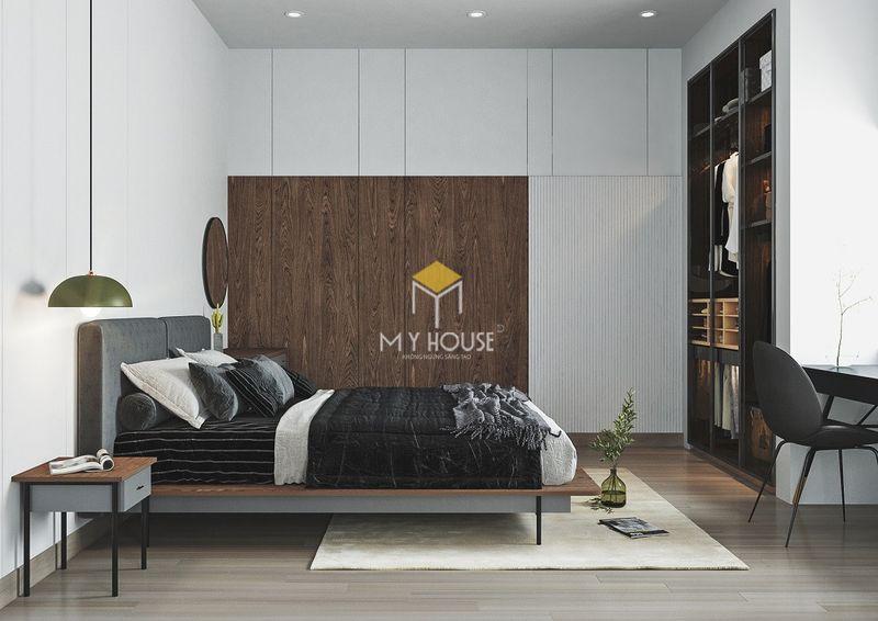 Phòng ngủ đẹp cho nữ màu đen - Mẫu 08