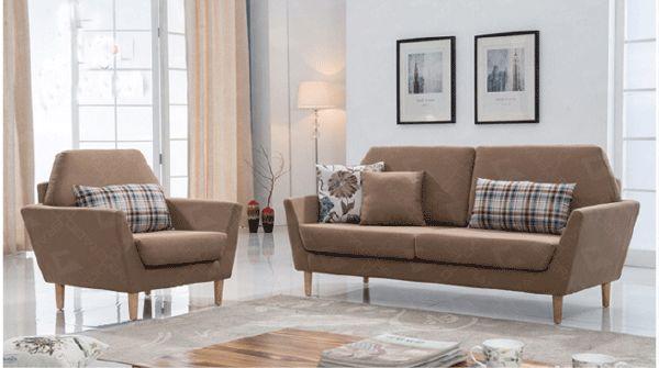 Mẫu sofa nỉ màu nâu - 23