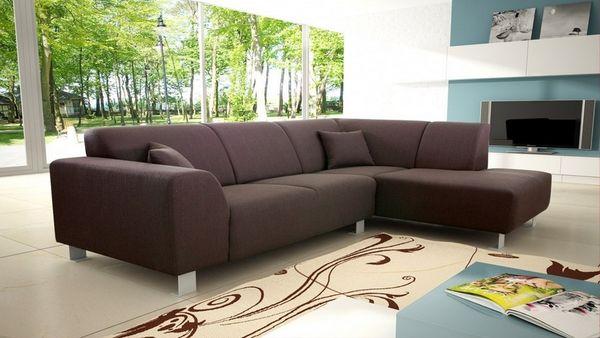 Mẫu sofa nỉ màu nâu - 25