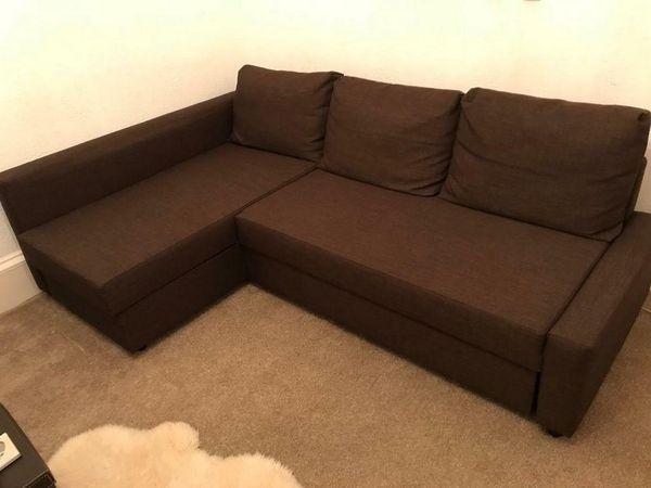 Mẫu sofa nỉ màu nâu - 06
