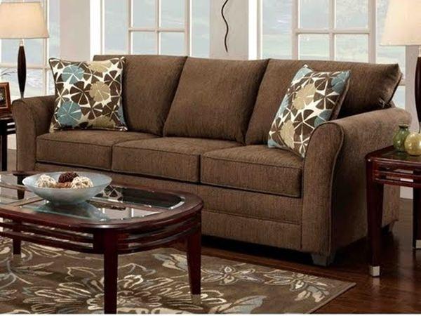 Mẫu sofa nỉ màu nâu - 22