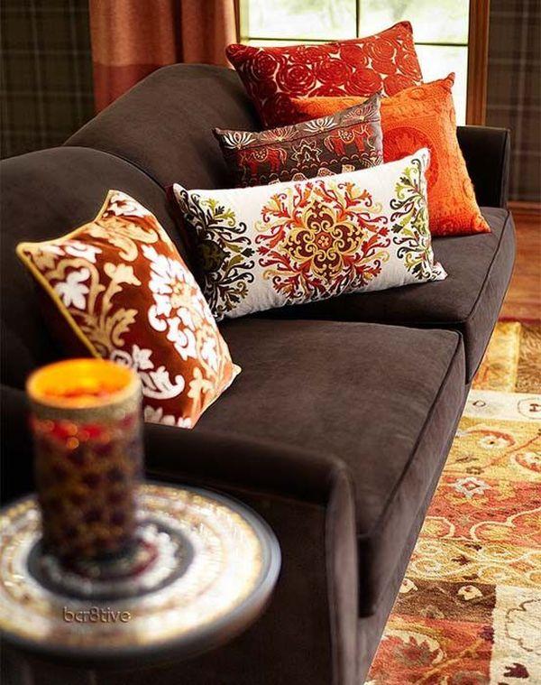 Mẫu sofa nỉ màu nâu - 20