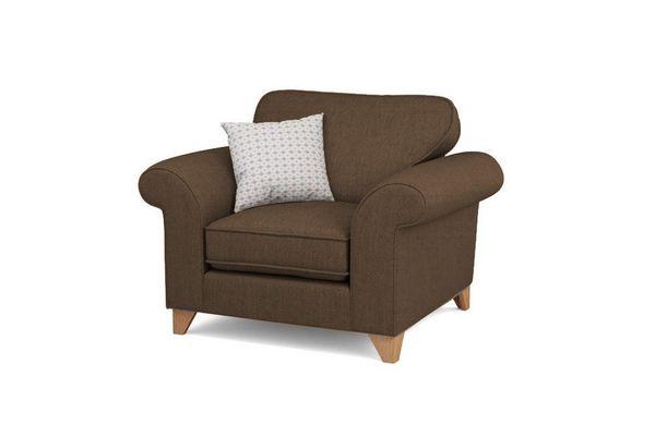 Mẫu sofa nỉ màu nâu - 09