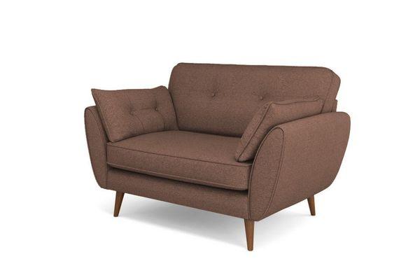 Mẫu sofa nỉ màu nâu - 10