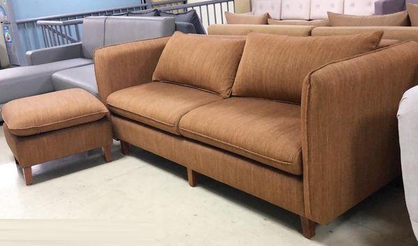 Mẫu sofa nỉ màu nâu - 21