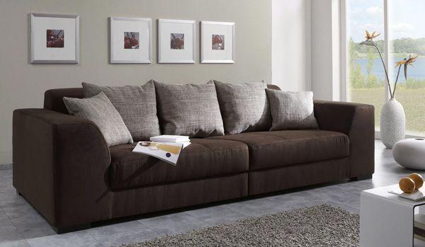Mẫu sofa nỉ màu nâu - 19