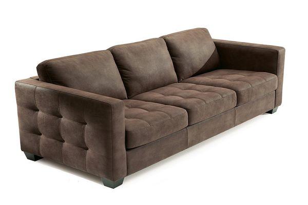 Mẫu sofa nỉ màu nâu - 12