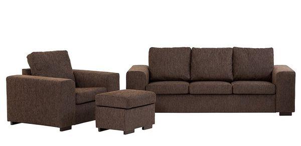 Mẫu sofa nỉ màu nâu - 14
