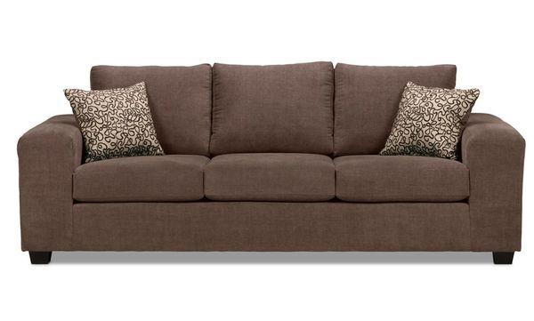 Mẫu sofa nỉ màu nâu - 17