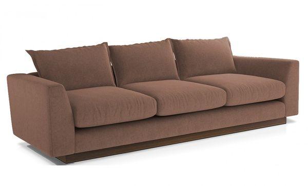Mẫu sofa nỉ màu nâu - 18